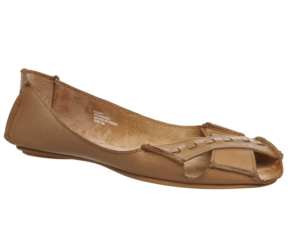 Office Face To Face Peep Toe Shoes, Tan