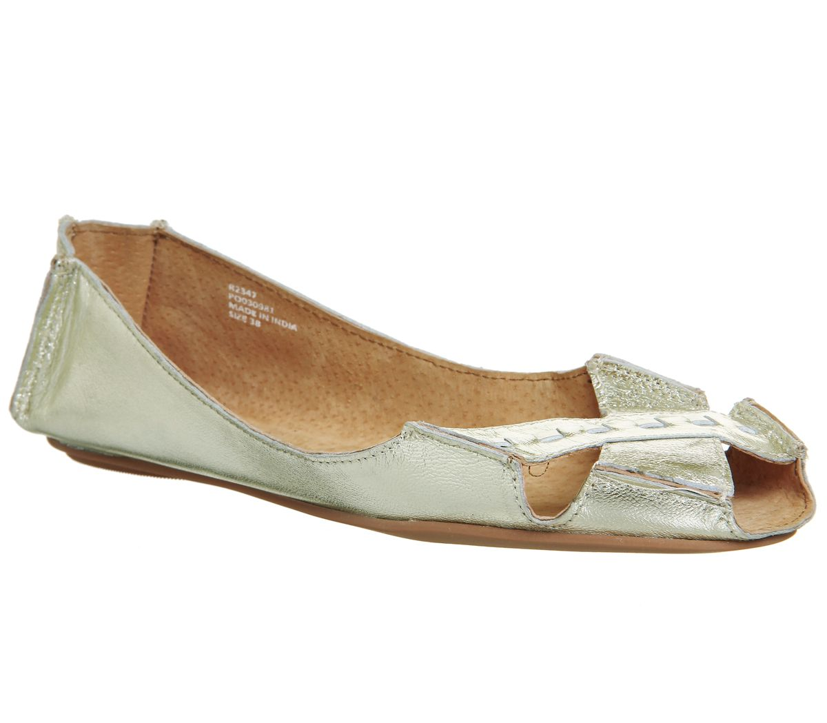 Office Face To Face Peep Toe Shoes, Cream