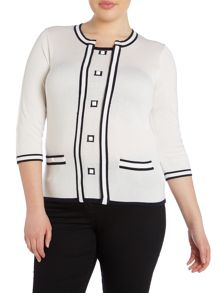Plus Size Contrast jumper
