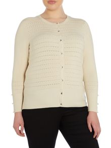 Plus Size Round neck cardigan