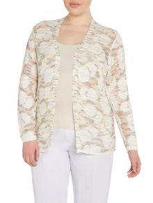 Plus Size Patterened cardigan