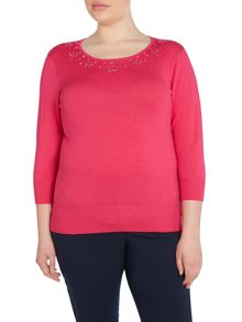 Plus Size Embellished knitwear jumper