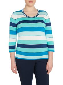 Plus Size Striped jumper