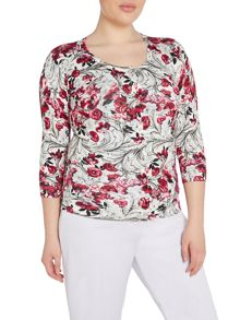 Plus Size Printed cardigan