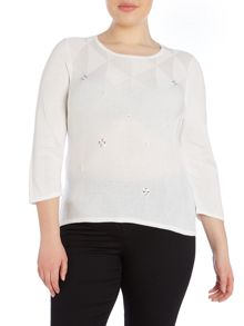 Plus Size Front detailed Jumper