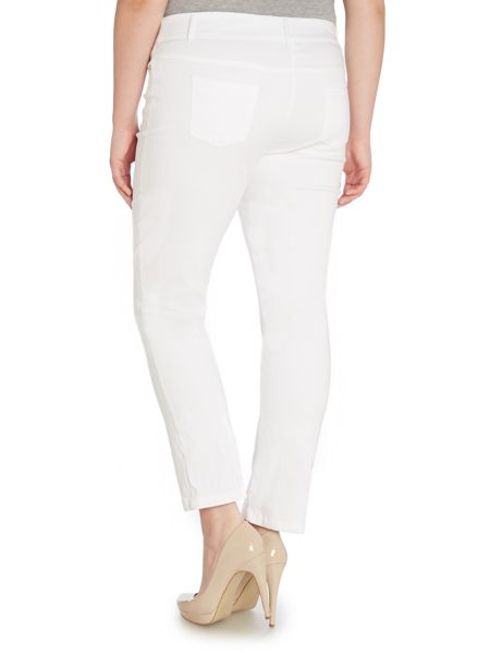 Annabelle Plus Size Comfort waist ankle length trousers