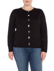 Plus Size Jumper With A Plaquette Detail