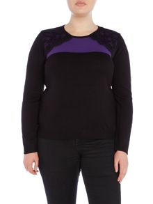 Annabelle Plus Size Lace Detail Jumper