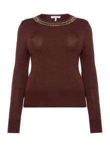 Annabelle Jumper With Neck Embellishment