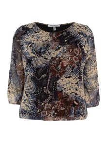 Annabelle Plus Size Printed blouse