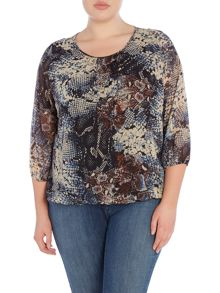 Plus Size Printed blouse