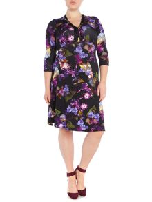 Annabelle Plus Size Printed Dress