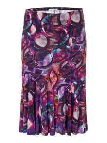 Annabelle Plus Size Printed skirt