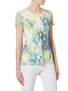Annabelle Lace placement print top
