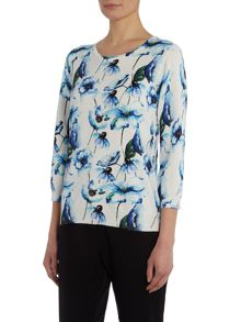Annabelle Water Colour Floral Jumper
