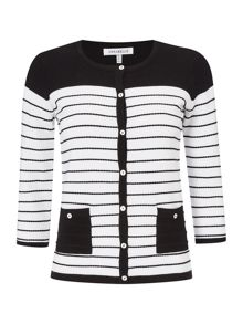 Annabelle Monochrome Striped Cardigan