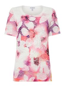 Annabelle Embellished Printed Top