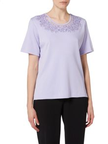 Annabelle Floral embroidered top