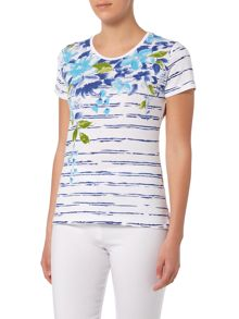 Annabelle Floral Striped Printed T-Shirt