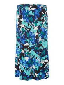 Annabelle Printed panelled skirt