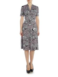 Annabelle Empire Waist Dress With Button Detail
