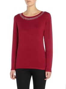 Annabelle Embellished Knitted Jumper