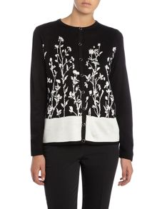 Annabelle Printed knitted cardigan