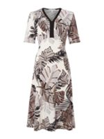 Annabelle Printed Fit and Flare Dress