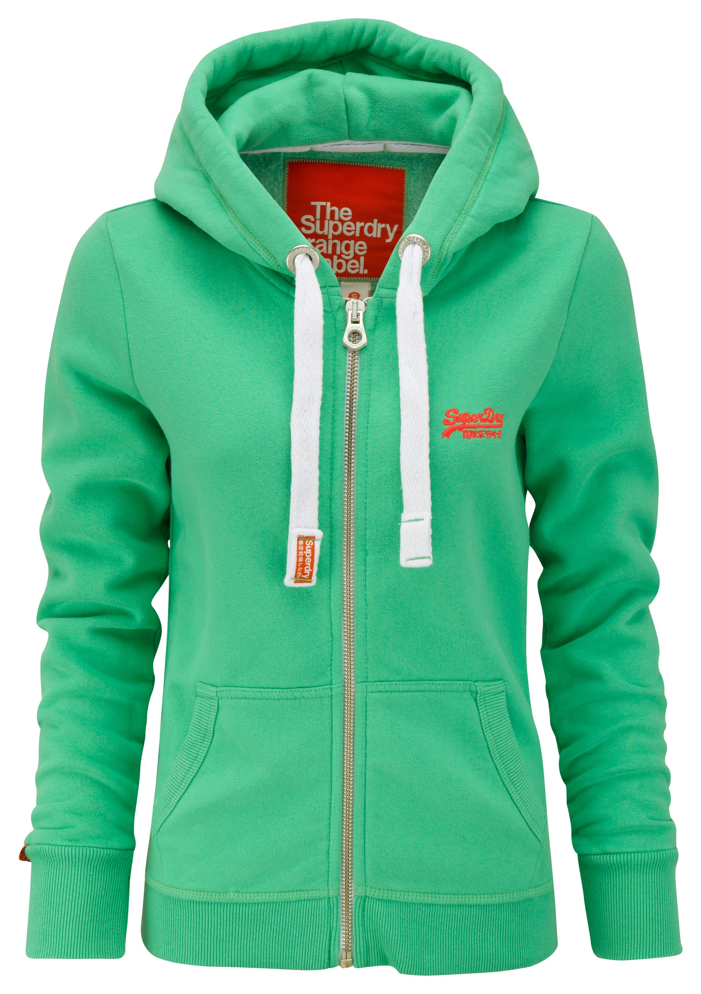Orange lable zip hoodie