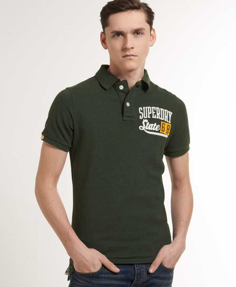 Applique polo shirt