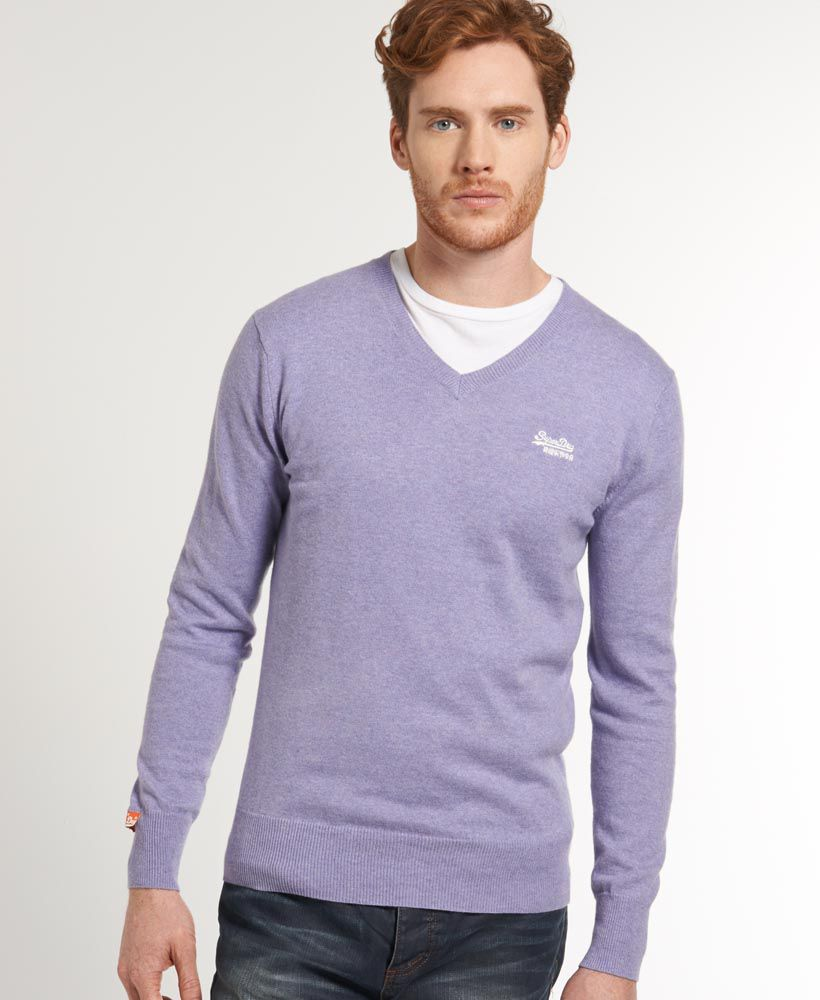 Orange label v neck jumper