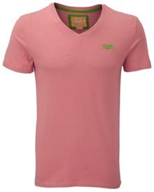 Embroidery vee t-shirt
