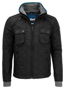 Nylon polar quilt jacket