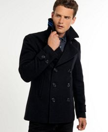 Commodity slim pea-coat
