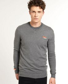 Orange label v-neck