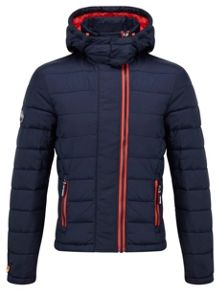 Fuji Double Zip Casual Quilted Jacket