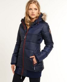 Superdry Sports tall puffer jacket