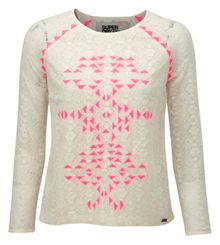 Ikat Stitch Lace Blouse