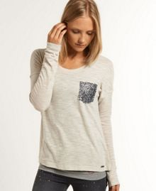 Shimmer luxe pocket top