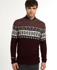 Monochrome Fairisle Crew Neck Jumper