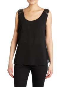 Chiffon top with sequin detail