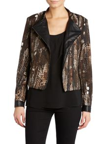 Printed zip up jacket