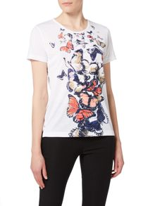 Simon Jeffrey Butterfly Printed Top