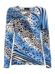 Simon Jeffrey Animal Printed Jumper