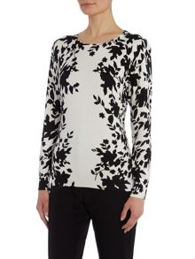 Monochrome Border Print Jumper