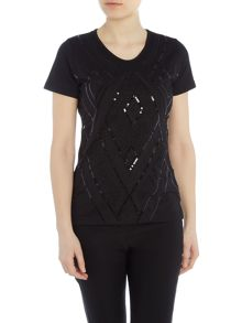 Simon Jeffrey Embellished Printed T-Shirt