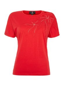 Simon Jeffrey Jewel Embellished Printed T-Shirt