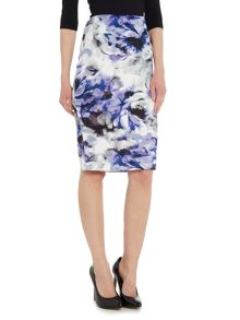 Simon Jeffrey Printed Pencil Skirt