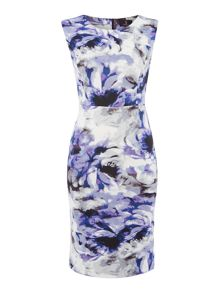 Simon Jeffrey Printed Scuba Dress