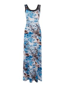 Simon Jeffrey Printed Vest Maxi Dress